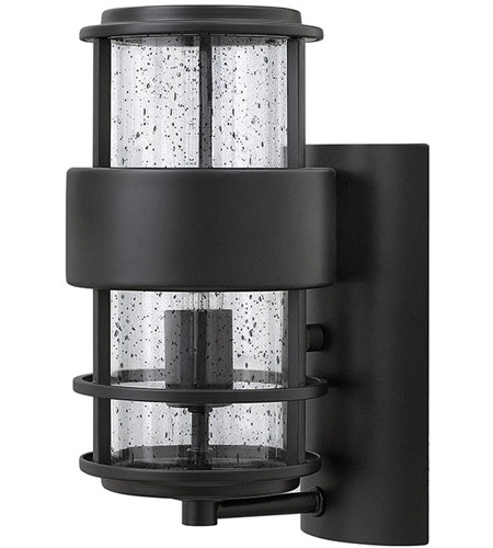 Satin Black Glass Outdoor Wall Lights