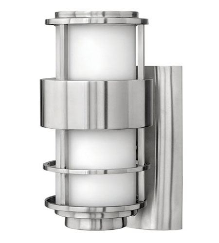 Hinkley Lighting Saturn 1 Light Outdoor Wall Lantern in Stainless Steel 1900SS-ES