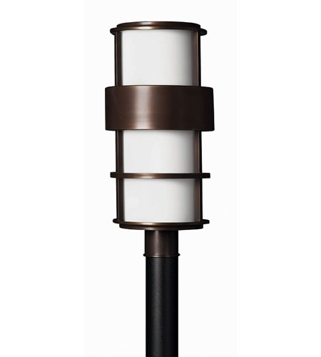 Hinkley Lighting Saturn 1 Light Post Lantern (Post Sold Separately) in Metro Bronze 1901MT-EST