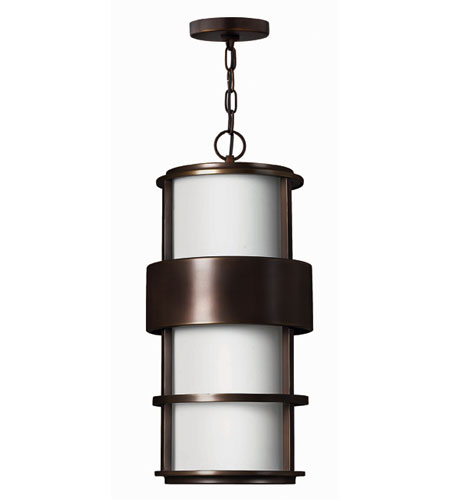 Hinkley Lighting Saturn 1 Light Outdoor Hanging Lantern in Metro Bronze 1902MT-EST