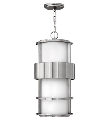 Hinkley Lighting Saturn 1 Light Outdoor Hanging Lantern in Stainless Steel 1902SS-ES