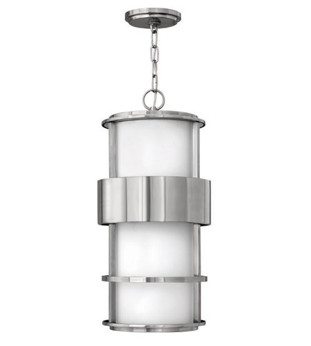 Hinkley Lighting Saturn 1 Light Outdoor Hanging Lantern in Stainless Steel 1902SS-EST