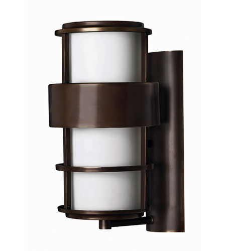 Hinkley Lighting Saturn 1 Light Outdoor Wall Lantern in Metro Bronze 1904MT-EST