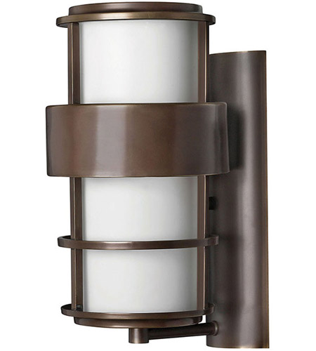 Hinkley Lighting Saturn 1 Light Outdoor Wall Lantern in Metro Bronze 1904MT