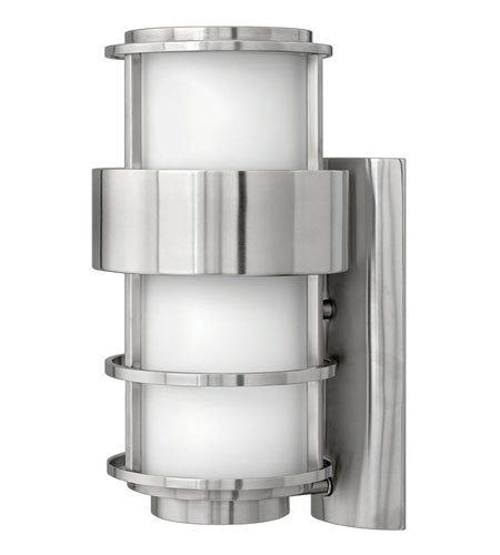Hinkley Lighting Saturn 1 Light Outdoor Wall Lantern in Stainless Steel 1904SS-ES