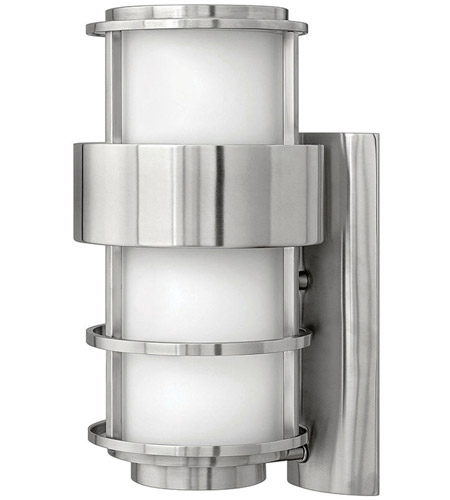 Hinkley Lighting Saturn 1 Light Outdoor Wall Lantern in Stainless Steel 1904SS