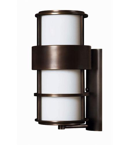 Hinkley Lighting Saturn 1 Light Outdoor Wall Lantern in Metro Bronze 1905MT-EST