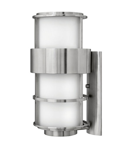 Hinkley Lighting Saturn 1 Light Outdoor Wall Lantern in Stainless Steel 1905SS-ES