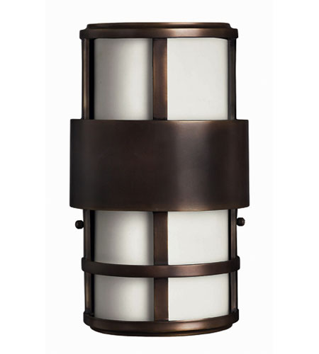Hinkley Lighting Saturn 2 Light Outdoor Wall Lantern in Metro Bronze 1908MT-ES