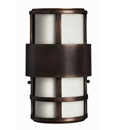Hinkley Lighting Saturn 2 Light Outdoor Wall Lantern in Metro Bronze 1908MT-EST photo