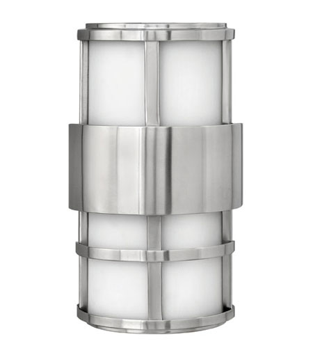 Hinkley Lighting Saturn 2 Light Outdoor Wall Lantern in Stainless Steel 1908SS-ES