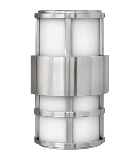 Hinkley Lighting Saturn 1 Light GU24 CFL Outdoor Wall in Stainless Steel 1908SS-GU24 photo