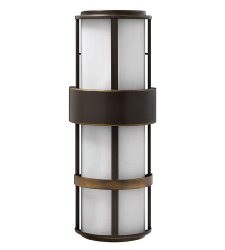 Hinkley Lighting Saturn 4 Light Outdoor Wall Lantern in Metro Bronze 1909MT-ES