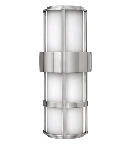 Hinkley 1909SS-GU24 Saturn 1 Light 21 inch Stainless Steel Outdoor Wall in Etched Opal, GU24 photo