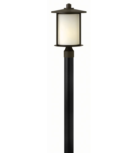 Hinkley 1911OZ-GU24 Hudson 1 Light 17 inch Oil Rubbed Bronze Post Lantern in GU24, Post Sold Separately photo