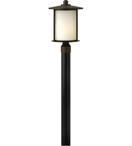 Hinkley 1911OZ Hudson 1 Light 17 inch Oil Rubbed Bronze Post Lantern in Incandescent, Post Sold Separately photo