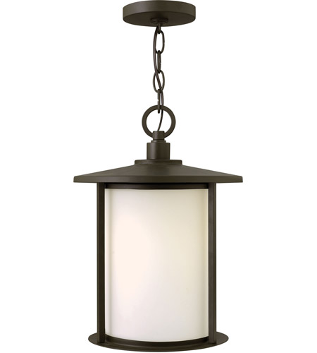 Hinkley 1912OZ Hudson 1 Light 11 inch Oil Rubbed Bronze Outdoor Hanging Light in Incandescent photo