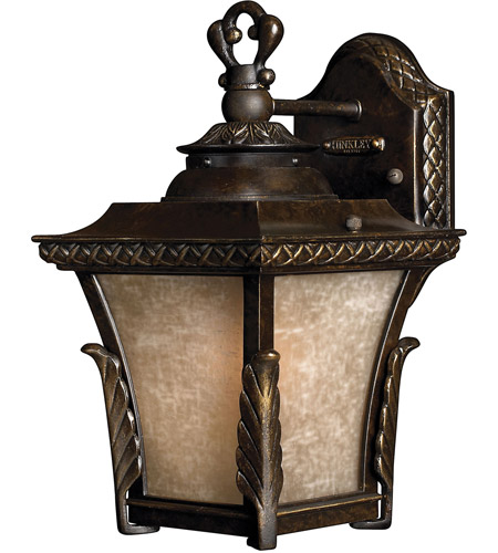 Hinkley 1930RB-LED Brynmar 1 Light 12 inch Regency Bronze Outdoor Wall in LED, Amber Linen Glass photo
