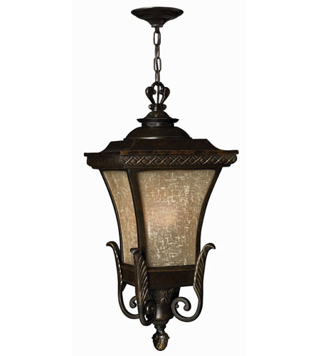 Hinkley Lighting Brynmar 1 Light Outdoor Hanging Lantern in Regency Bronze 1932RB-DS