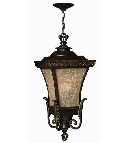Hinkley Lighting Brynmar 1 Light Outdoor Hanging Lantern in Regency Bronze 1932RB-ES