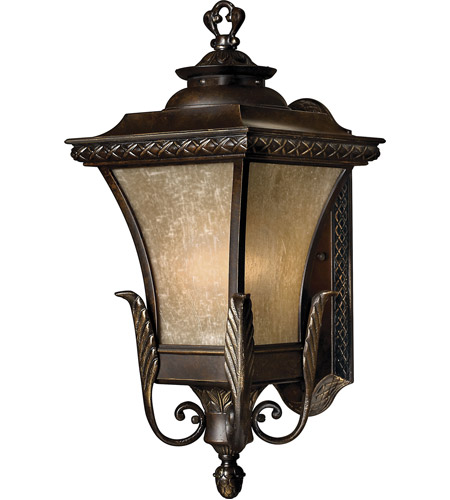 Hinkley 1934RB-LED Brynmar 1 Light 20 inch Regency Bronze Outdoor Wall in LED, Amber Linen Glass photo