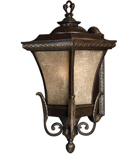 Hinkley 1935RB-LED Brynmar 1 Light 28 inch Regency Bronze Outdoor Wall in LED, Amber Linen Glass photo