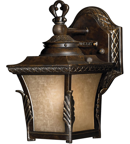 Hinkley 1936RB-LED Brynmar 1 Light 9 inch Regency Bronze Outdoor Wall in LED, Amber Linen Glass photo