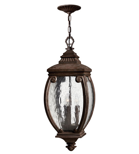 Hinkley 1942FZ Forum 3 Light 10 inch French Bronze Outdoor Hanging Lantern photo