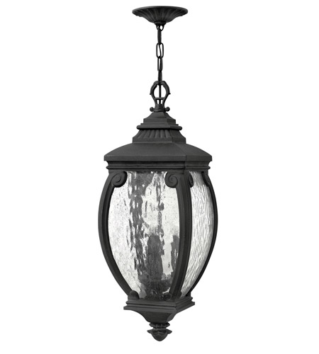 Hinkley Lighting Forum 3 Light Outdoor Hanging in Museum Black 1942MB