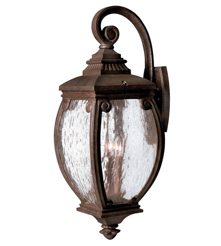 Hinkley 1944FZ Forum 3 Light 28 inch French Bronze Outdoor Wall Lantern photo