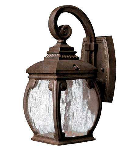 Hinkley 1946FZ Forum 1 Light 13 inch French Bronze Outdoor Wall Lantern in Incandescent photo