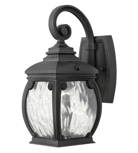 Hinkley Lighting Forum 1 Light LED Outdoor Wall in Museum Black 1946MB-LED