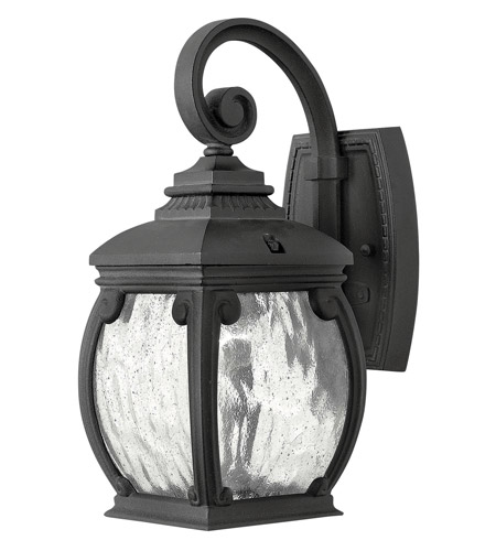 Hinkley Lighting Forum 1 Light Outdoor Wall in Museum Black 1946MB photo