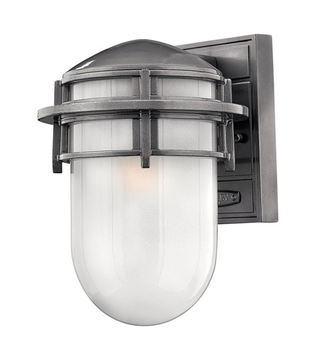 Hinkley Lighting Reef 1 Light GU24 CFL Outdoor Wall in Hematite 1950HE-GU24
