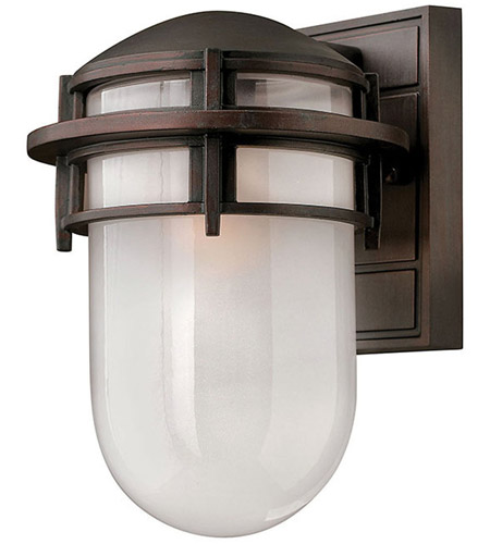 Hinkley 1950VZ Reef 1 Light 11 inch Victorian Bronze Outdoor Wall Mount in Translucent Sandblasted, Incandescent photo