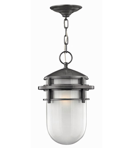 Hinkley Lighting Reef 1 Light Outdoor Hanging Lantern in Hematite 1952HE-ES