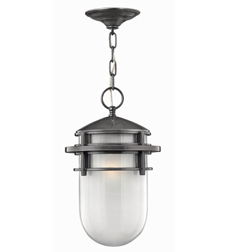 Hinkley Lighting Reef 1 Light Outdoor Hanging Lantern in Hematite 1952HE-EST