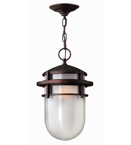 Hinkley Lighting Reef 1 Light Outdoor Hanging Lantern in Victorian Bronze 1952VZ-EST