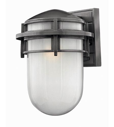 Hinkley Lighting Reef 1 Light Outdoor Wall Lantern in Hematite 1954HE-ES