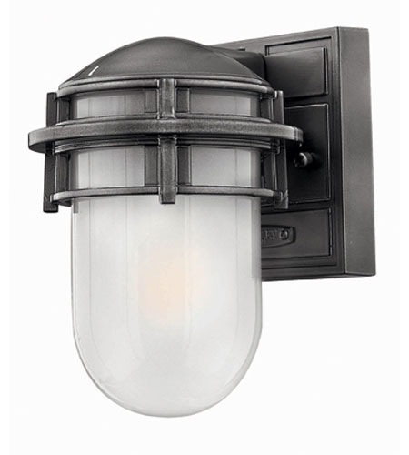 Hinkley Lighting Reef 1 Light Outdoor Wall Lantern in Hematite 1956HE-EST photo
