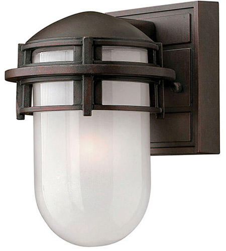 Hinkley 1956VZ Reef 1 Light 8 inch Victorian Bronze Outdoor Wall Lantern in Translucent Sandblasted, Incandescent photo