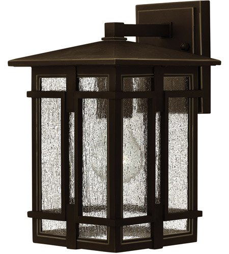 Hinkley 1960OZ-LED Tucker LED 12 inch Oil Rubbed Bronze Outdoor Wall Mount, Clear Seedy Glass photo