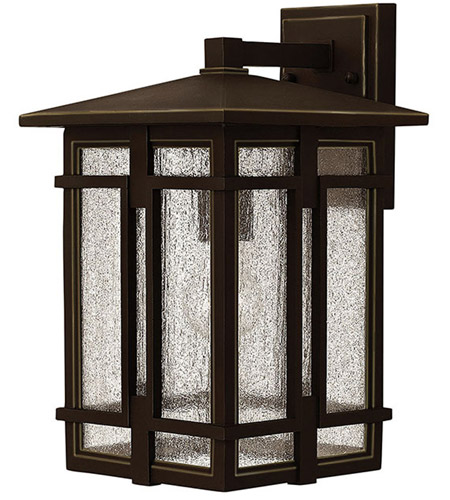 Hinkley 1964OZ Tucker 1 Light 15 inch Oil Rubbed Bronze Outdoor Wall Mount, Clear Seedy Glass photo