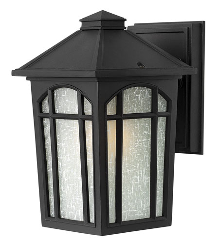 Hinkley Lighting Cedar Hill 1 Light Energy Star Outdoor Wall Lantern in Black 1980BK-ES photo