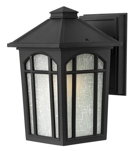 Hinkley Lighting Cedar Hill 1 Light Standard Outdoor Wall Lantern in Black 1980BK