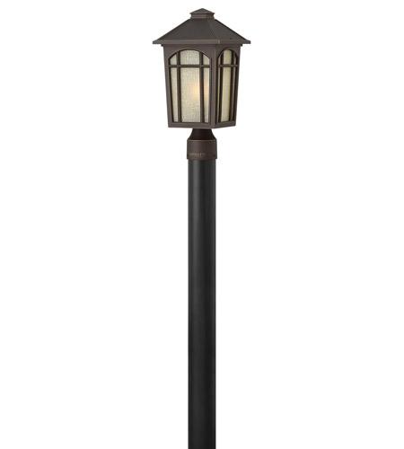 Hinkley Lighting Cedar Hill 1 Light Standard Post Lantern (Post Sold Separately) in Oil Rubbed Bronze 1981OZ
