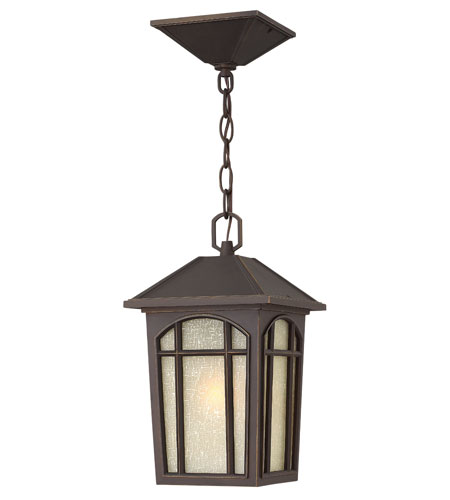 Hinkley Lighting Cedar Hill 1 Light Dark Sky Outdoor Hanging Lantern in Oil Rubbed Bronze 1982OZ-DS