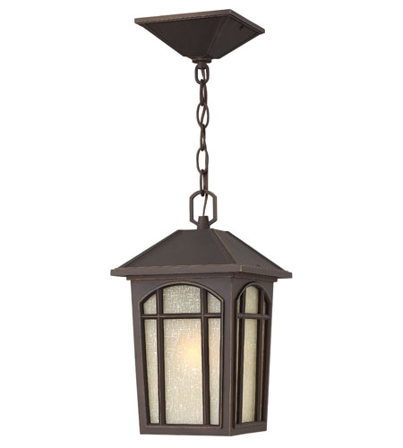 Hinkley Lighting Cedar Hill 1 Light Energy Star & Dark Sky Outdoor Hanging Lantern in Oil Rubbed Bronze 1982OZ-ESDS photo