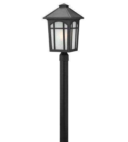 Hinkley Lighting Cedar Hill 1 Light LED Post Lantern (Post Sold Separately) in Black 1989BK-LED