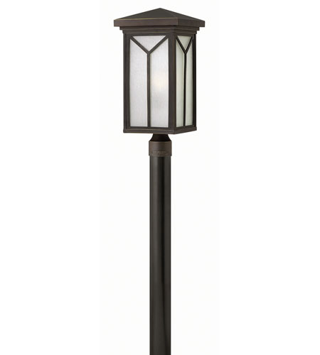 Hinkley 1991OZ-GU24 Drake 1 Light 21 inch Oil Rubbed Bronze Post Lantern in GU24, Post Sold Separately photo